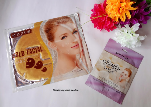 Mond'Sub Collagen Silk facial mask sheet  and Gold Mask Sheet :Review